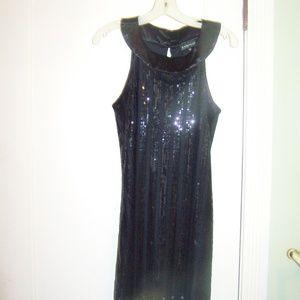 Rampage Black Sequin Dress Junior Party Evening